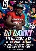 RnB BooM. Dj Danny Birthday party в «Forsage»